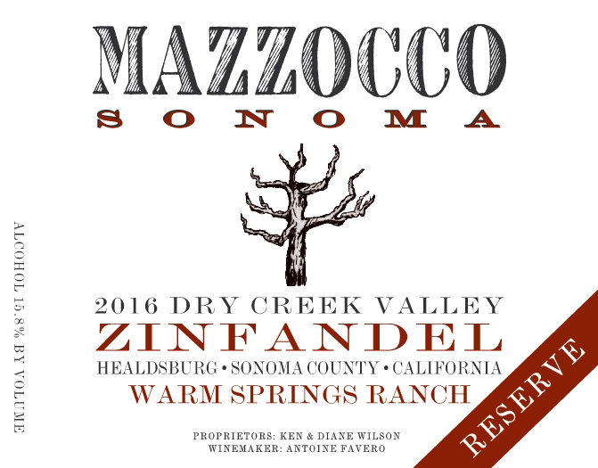 2016 Zinfandel Reserve Warm Springs Ranch, Dry Creek Valley