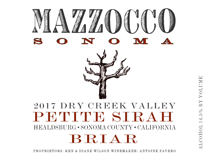 2017 Petite Sirah Briar, Dry Creek Valley THUMBNAIL