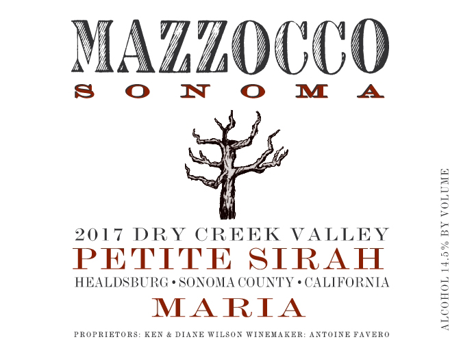 2017 Petite Sirah Maria, Dry Creek Valley THUMBNAIL