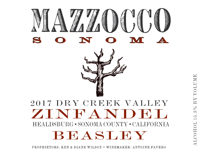 2017 Zinfandel Beasley, Dry Creek Valley_THUMBNAIL