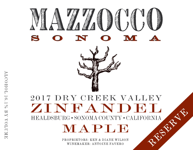 2017 Zinfandel Reserve Maple, Dry Creek Valley_THUMBNAIL