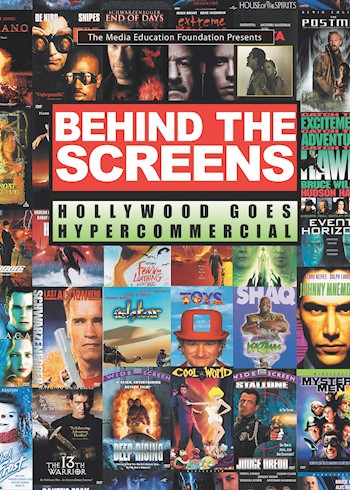 Behind The Screens: Hollywood Goes Hypercommercial documentary poster LARGE
