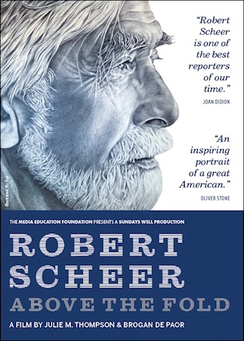 Robert Scheer: Above The Fold documentary poster LARGE
