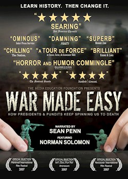 War Made Easy: How Presidents & Pundits Keep Spinning Us To Death documentary poster THUMBNAIL