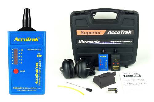 Superior AccuTrak® VPE Ultrasonic Leak Detector--Pro-Plus Kit with Hard Hat Headphones