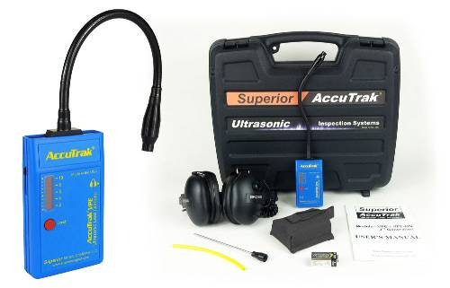 Superior AccuTrak® VPE-GN Ultrasonic Leak Detector--Professional Kit with Hard Hat Headphones and GooseNeck Probe