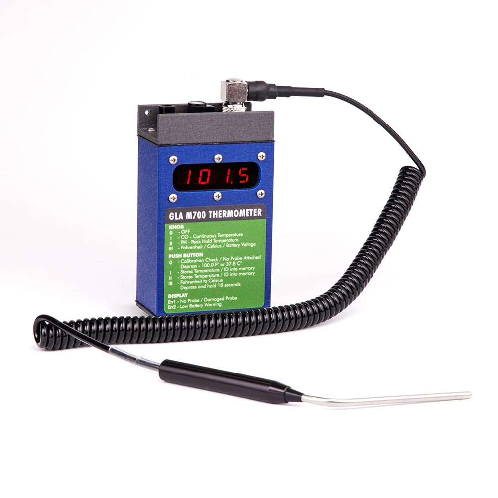 GLA M700 thermometer for cattle, horses, large zoo animals and wildlife.