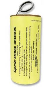Professional Smoke Grenade, Superior Signal, 130K cubic feet viewable smoke