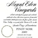 2009 Mount Eden Estate Bottled Pinot Noir, Santa Cruz Mountains