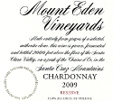 2009 Mount Eden  RESERVE Chardonnay, Santa Cruz Mountains