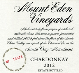 2012 Mount Eden Estate Bottled Chardonnay, Santa Cruz Mountains MAIN