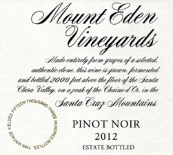 2012 Mount Eden Estate Bottled Pinot Noir, Santa Cruz Mountains
