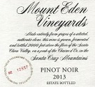 2013 Mount Eden Estate Bottled Pinot Noir, Santa Cruz Mountains