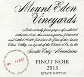 2013 Mount Eden Estate Bottled Pinot Noir, Santa Cruz Mountains MAIN