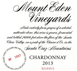 2013 Mount Eden  RESERVE Chardonnay, Santa Cruz Mountains_MAIN