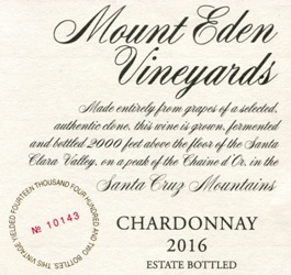 2016 Mount Eden Estate Bottled Chardonnay MAIN