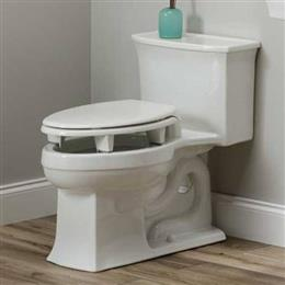 "Elevated 3"" Toilet Seat with Open Wall Design, Round or Elongated THUMBNAIL"