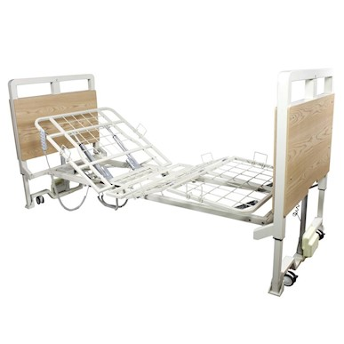 "Dynarex D500 LTC 5 Function Ultra-Low Hospital Bed, 2"" MAIN"