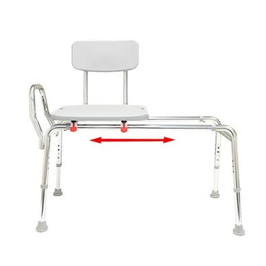 Sliding Transfer Bench with Back MAIN