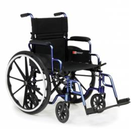 "Wheelchair 18"" Lightweight Convertible Transport Chair, Desk Length Arms, Navigator THUMBNAIL"