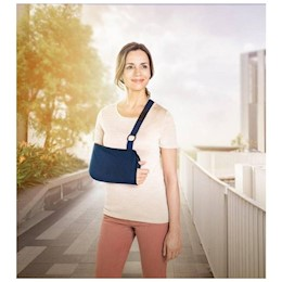photo of Actimove Mitella arm sling in use THUMBNAIL