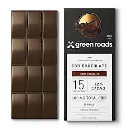 photo of Green Roads CBD Chocolate Bar 180mg THUMBNAIL