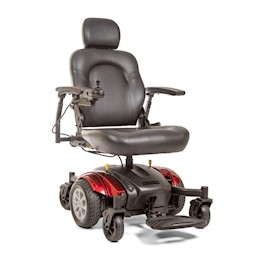 photo of Golden Technologies Compass Sport Power Wheelchair GP605 in red THUMBNAIL