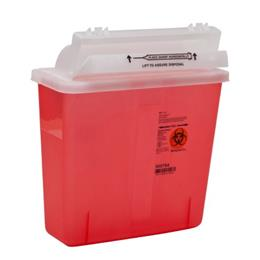 5 QT Counterbalance Door Sharps Container THUMBNAIL