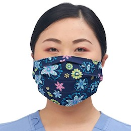 photo of Cherokee reversible face mask CK508 in A Floral Med & Totally Pawsome THUMBNAIL