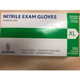 photo of Strong Nitrile Exam gloves XL THUMBNAIL