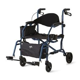 "Wheelchair 19"" Translator Combination Transport Chair and Rollator THUMBNAIL"