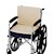 photo of Nova 2658-3 Convoluted Seat/Back Wheelchair cushion with fleece cover in wheelchair SWATCH