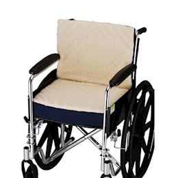 photo of Nova 2658-3 Convoluted Seat/Back Wheelchair Cushion with Fleece cover THUMBNAIL