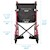 "photo of Nova 330R 20"" Transport Chair with 12"" Rear Wheels dimensions SWATCH"