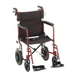 "photo of Nova 330B & 330R 20"" Transport Chair with 12"" Rear Wheels THUMBNAIL"
