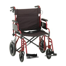 "photo of Nova 332B & 332R 22"" Transport Chair with 12"" Rear Wheels THUMBNAIL"