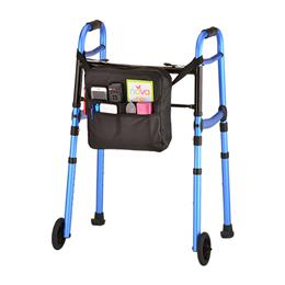 "photo of Nova folding Walker With 5"" Wheels, Walker Skis, & Mobility Bag 4081BW5 THUMBNAIL"