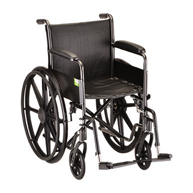 "photo of Nova 5080S 18"" Steel Wheelchair Fixed Arms & Footrests MAIN"