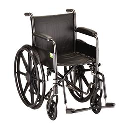 "photo of Nova 5080S 18"" Steel Wheelchair Fixed arms and footrests THUMBNAIL"