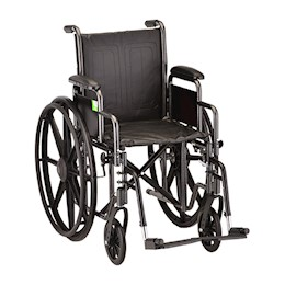 "photo of Nova 5165S 16"" Steel Wheelchair with detachable arms and footrests THUMBNAIL"