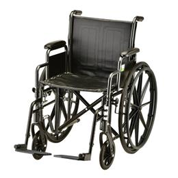 "photo of Nova 5285S 20"" Steel Wheelchair Detachable Arms and Swing Away footrests THUMBNAIL"