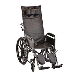"photo of Nova 6160S Reclining Wheelchair 16"" Full Length Arms and Elevating Legs THUMBNAIL"