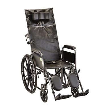 "Reclining Wheelchair 18"" Full Length Arms and Elevating Legs MAIN"
