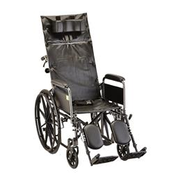 "photo of Nova 6180S Reclining Wheelchair 18"" Full Length Arms and Elevating Legs THUMBNAIL"