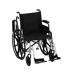 "photo of Nova 7180L 18"" Lightweight wheelchair with desk arms and footrests THUMBNAIL"