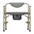 photo of Nova 8583 Heavy Duty Commode with Drop-Arm & Extra Wide Seat front view 2 of 5