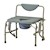 photo of Nova 8583 Heavy Duty Commode with Drop-Arm & Extra Wide Seat with arms dropped 4 of 5
