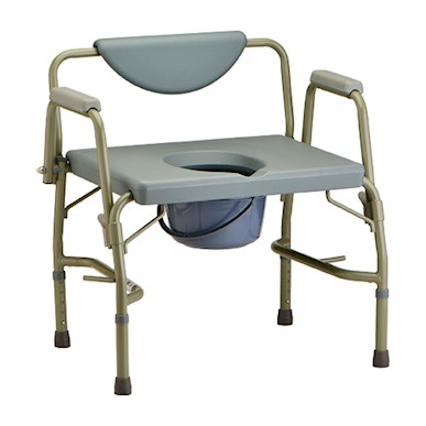 Heavy Duty Commode, Drop Arms, Extra Wide Seat MAIN