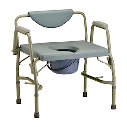 photo of Nova 8583 Heavy Duty Commode with Drop-Arm & Extra Wide Seat THUMBNAIL