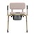 photo of back view of Nova 8901W Padded Drop-Arm Commode 2 of 4